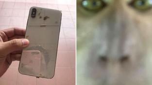 훔친 핸드폰에 담긴 괴한의 셀카 '잘 찍혔나'