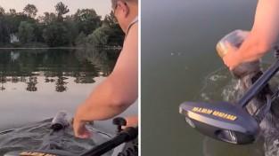 위험을 무릅쓰고 '물에 빠진 곰'을 구한 부부