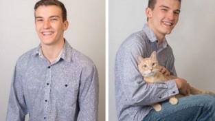 고양이와 사진 찍은 남성은 '매력 떨어져'
